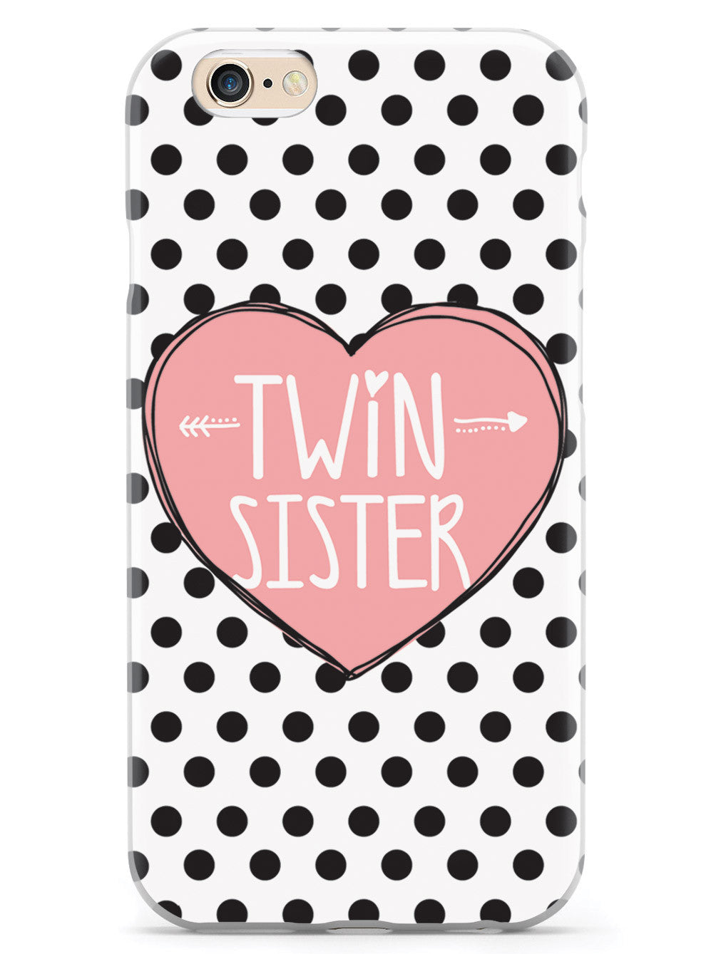 Sisterly Love - Twin Sister - Polka Dots Case