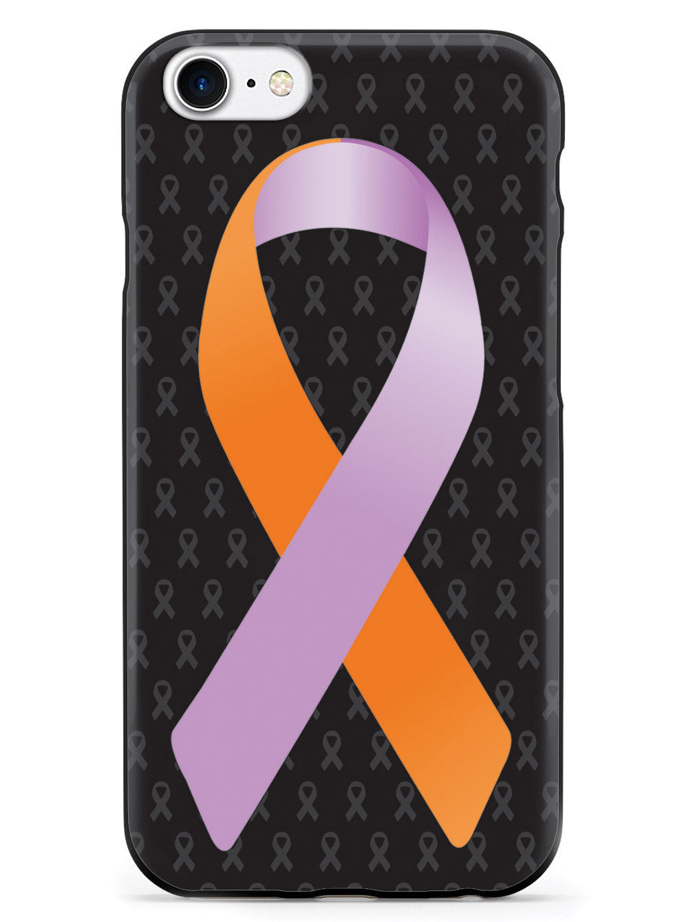Orange and Lavender Awareness Ribbon - Black Case