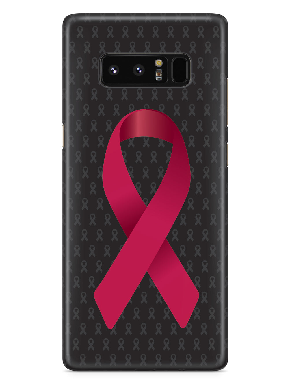 Burgundy Awareness Ribbon - Black Case