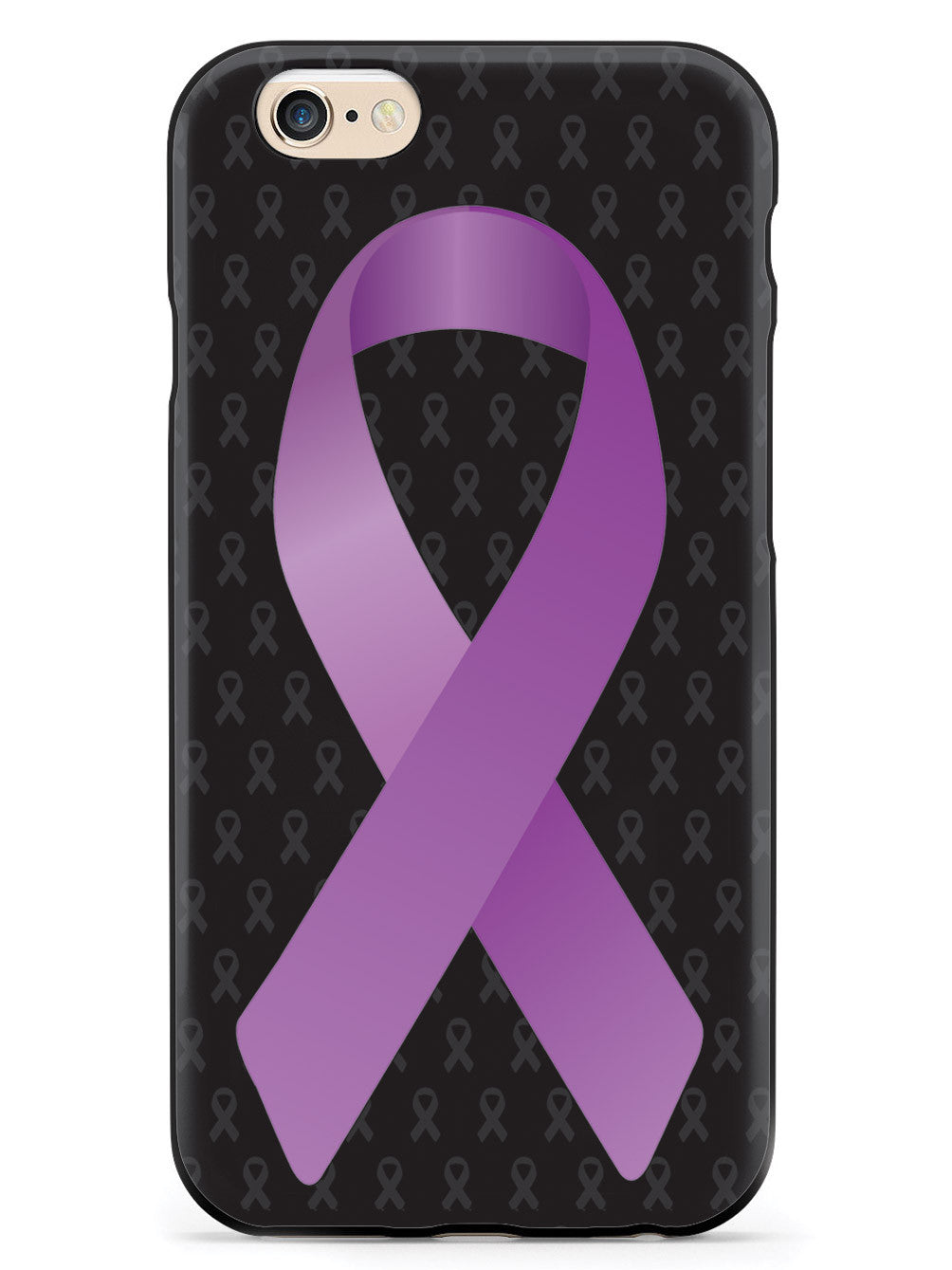 Dark Lavender Awareness Ribbon - Black Case