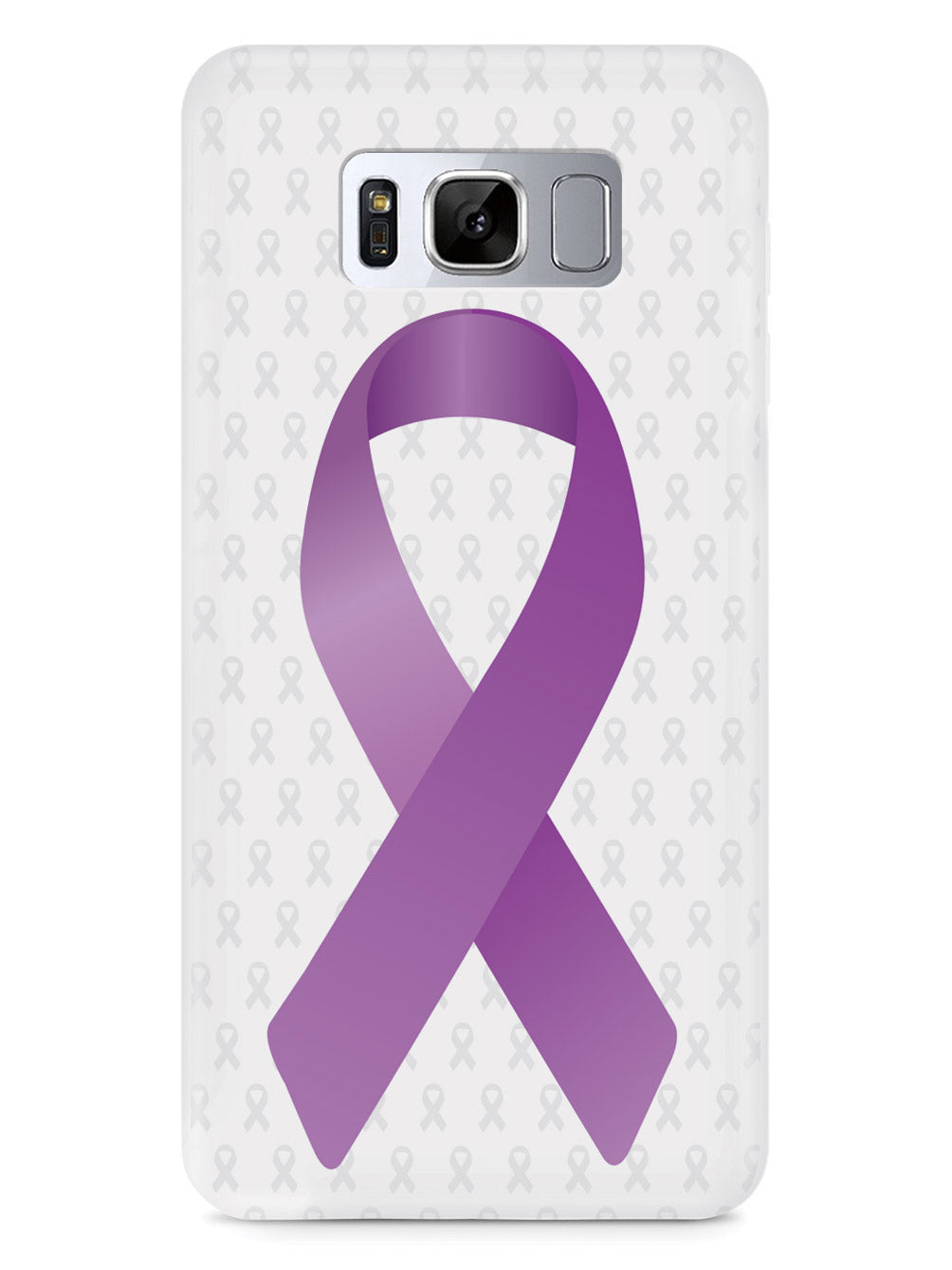 Dark Lavender Awareness Ribbon - White Case