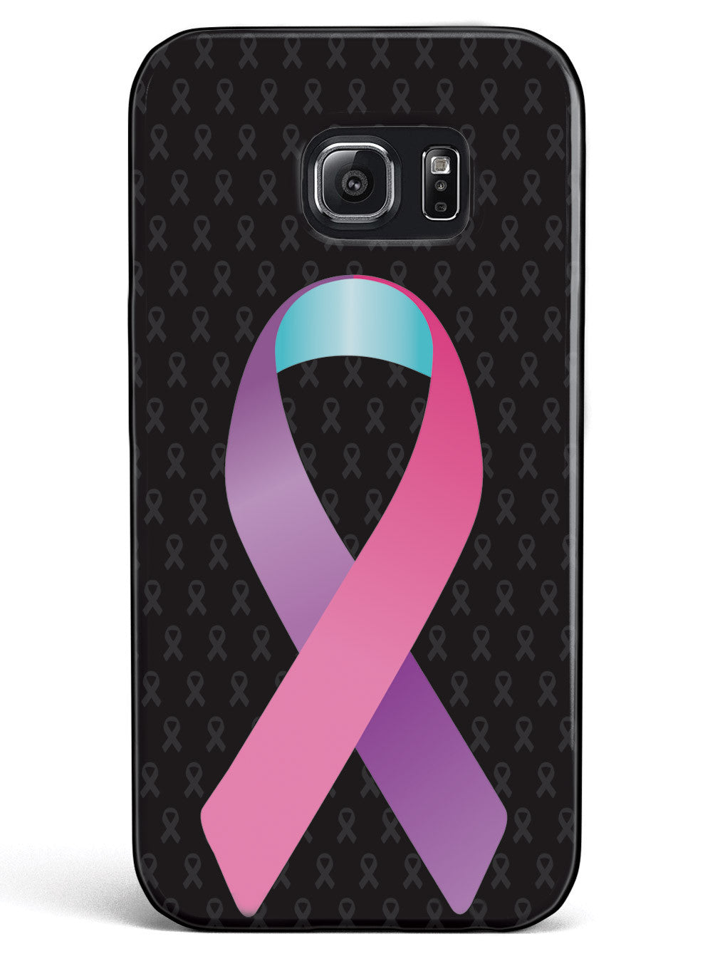 Pink Purple and Blue Awareness Ribbon - Black Case