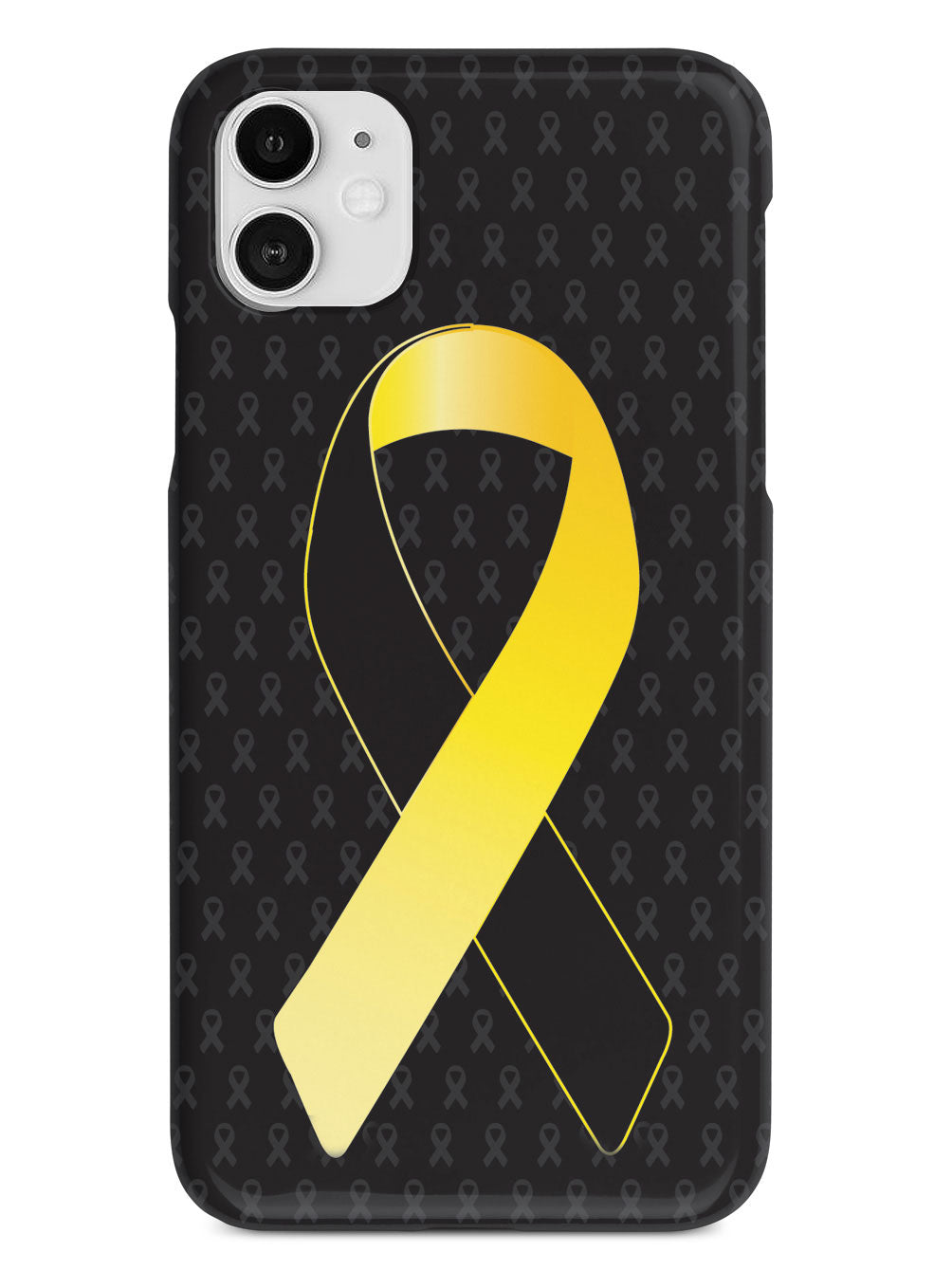 Yellow and Black Awareness Ribbon - Black Case
