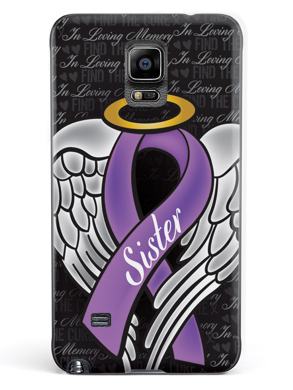 In Loving Memory of My Sister - Purple Ribbon Case