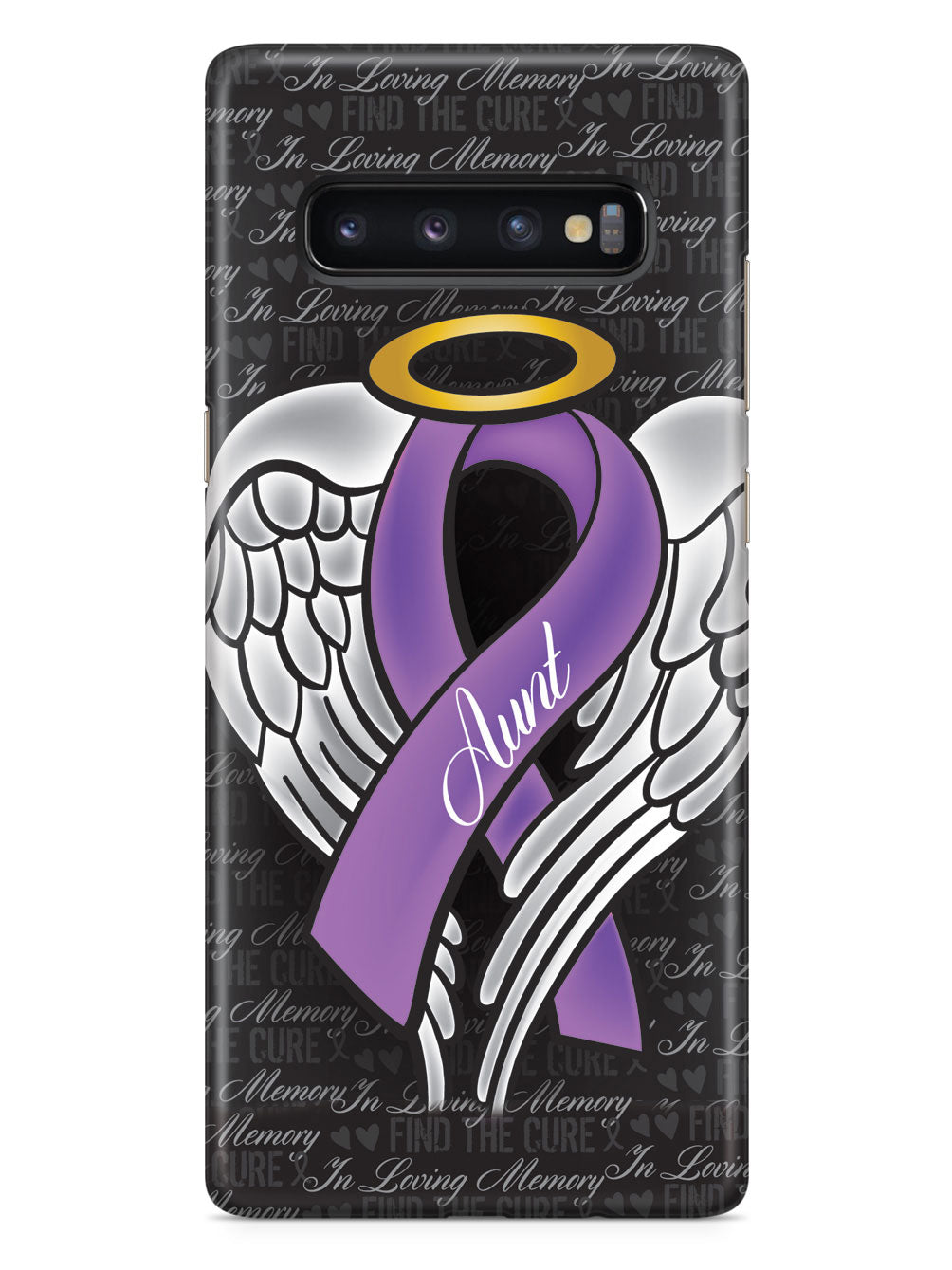 In Loving Memory of My Aunt - Purple Ribbon Case