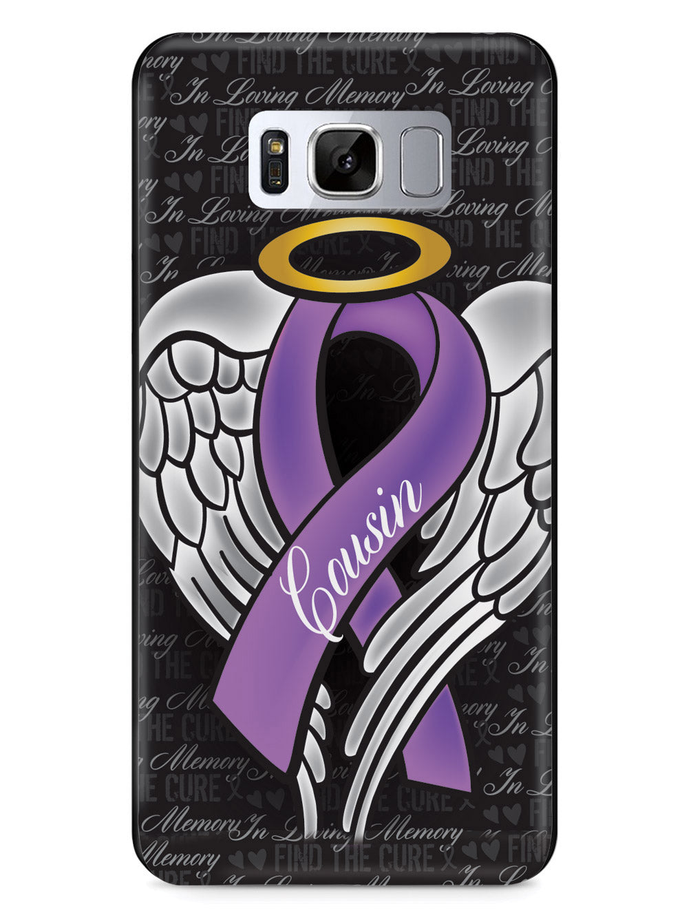 In Loving Memory of My Cousin - Purple Ribbon Case