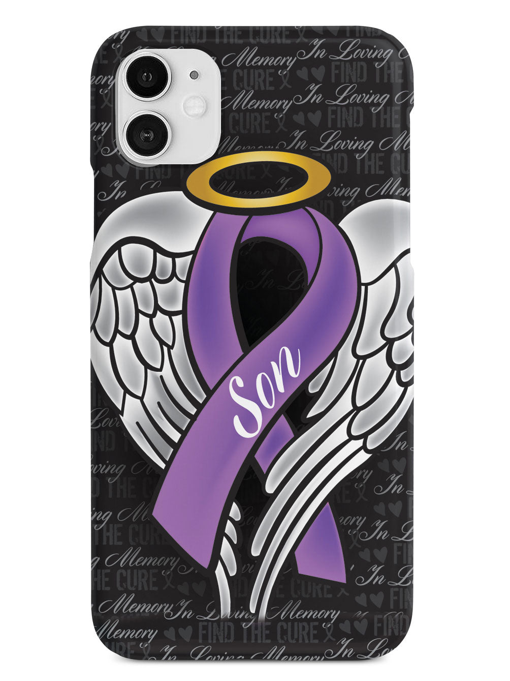 In Loving Memory of My Son - Purple Ribbon Case