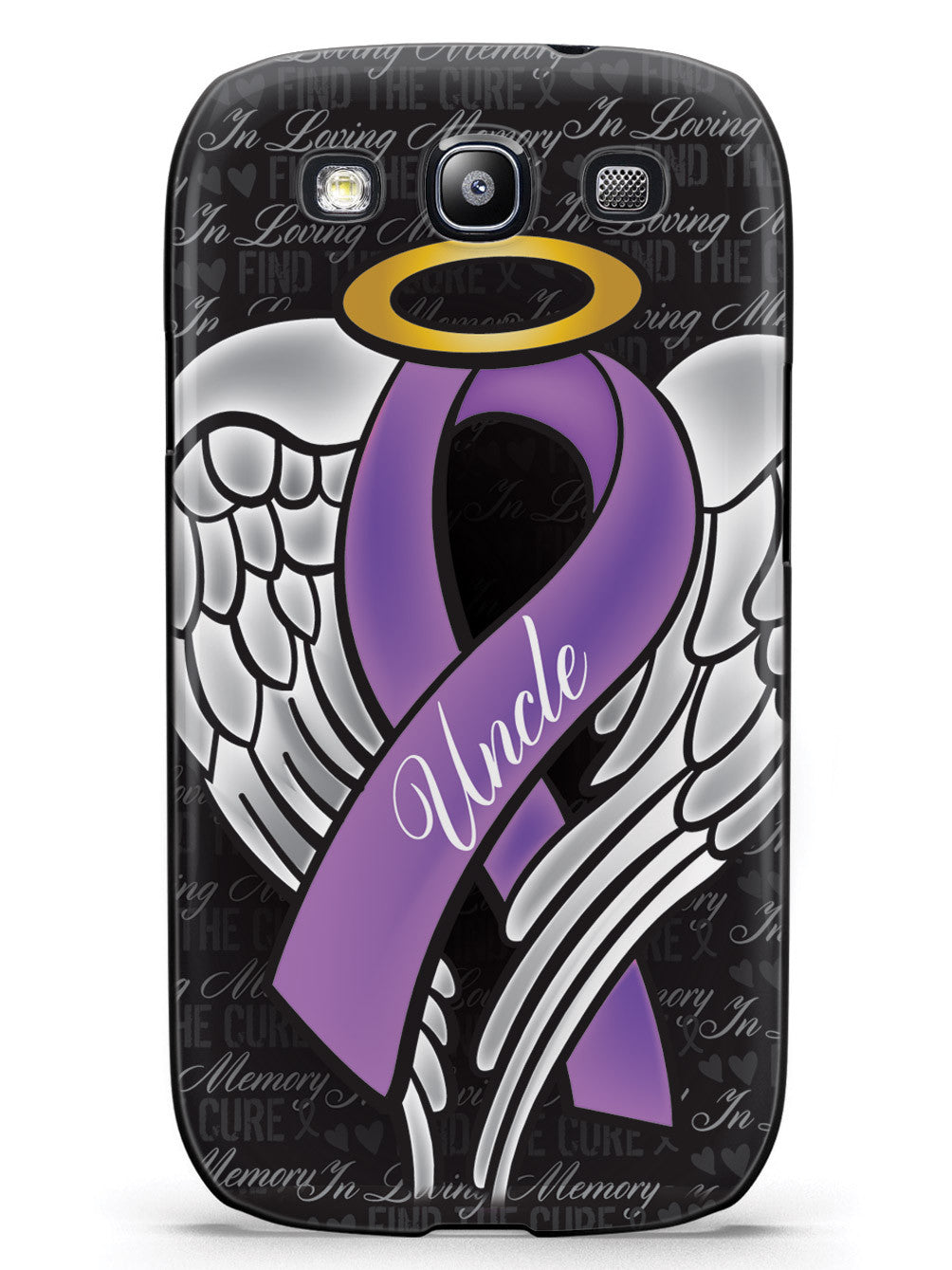 In Loving Memory of My Uncle - Purple Ribbon Case