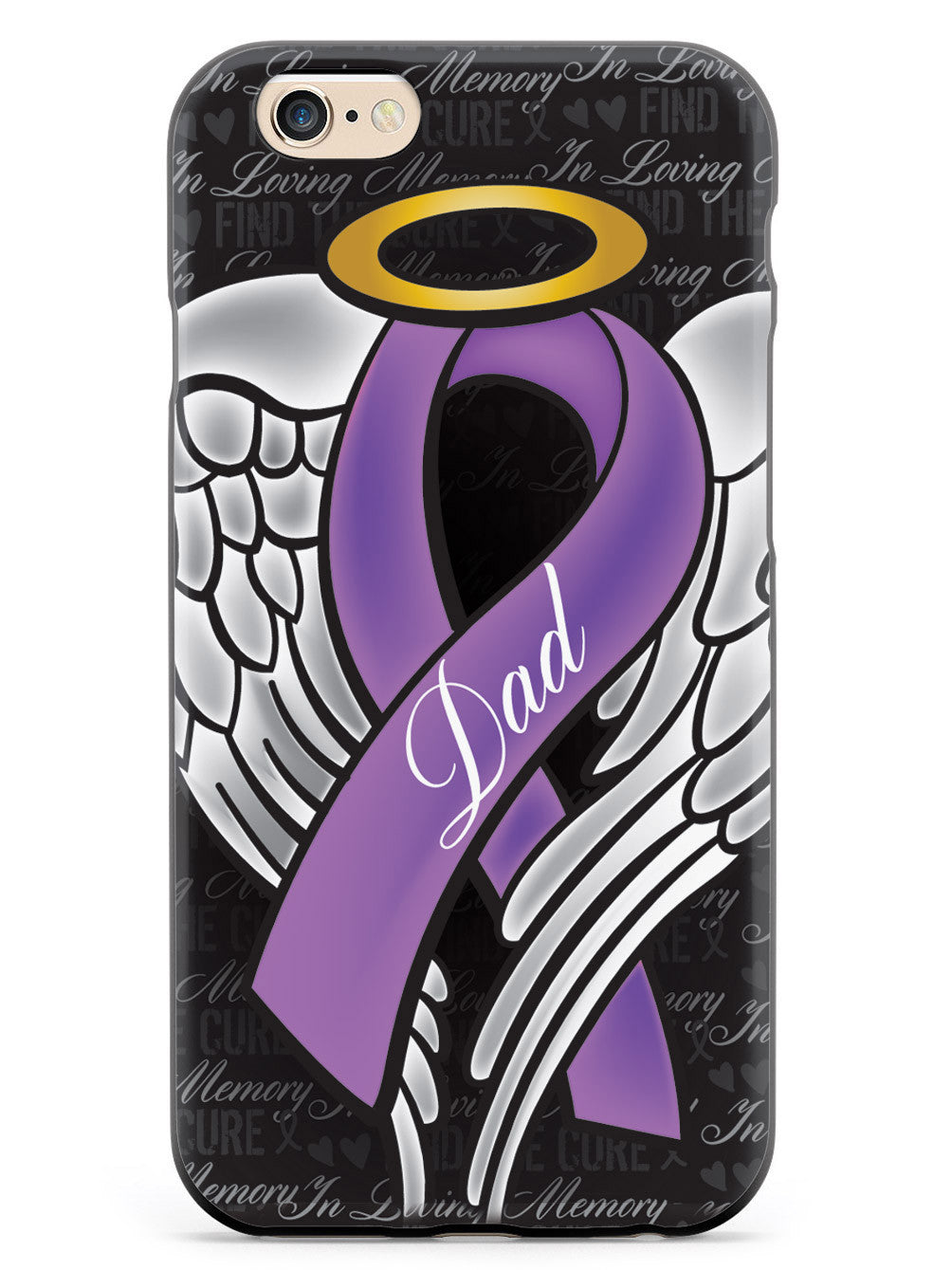 In Loving Memory of My Dad - Purple Ribbon Case