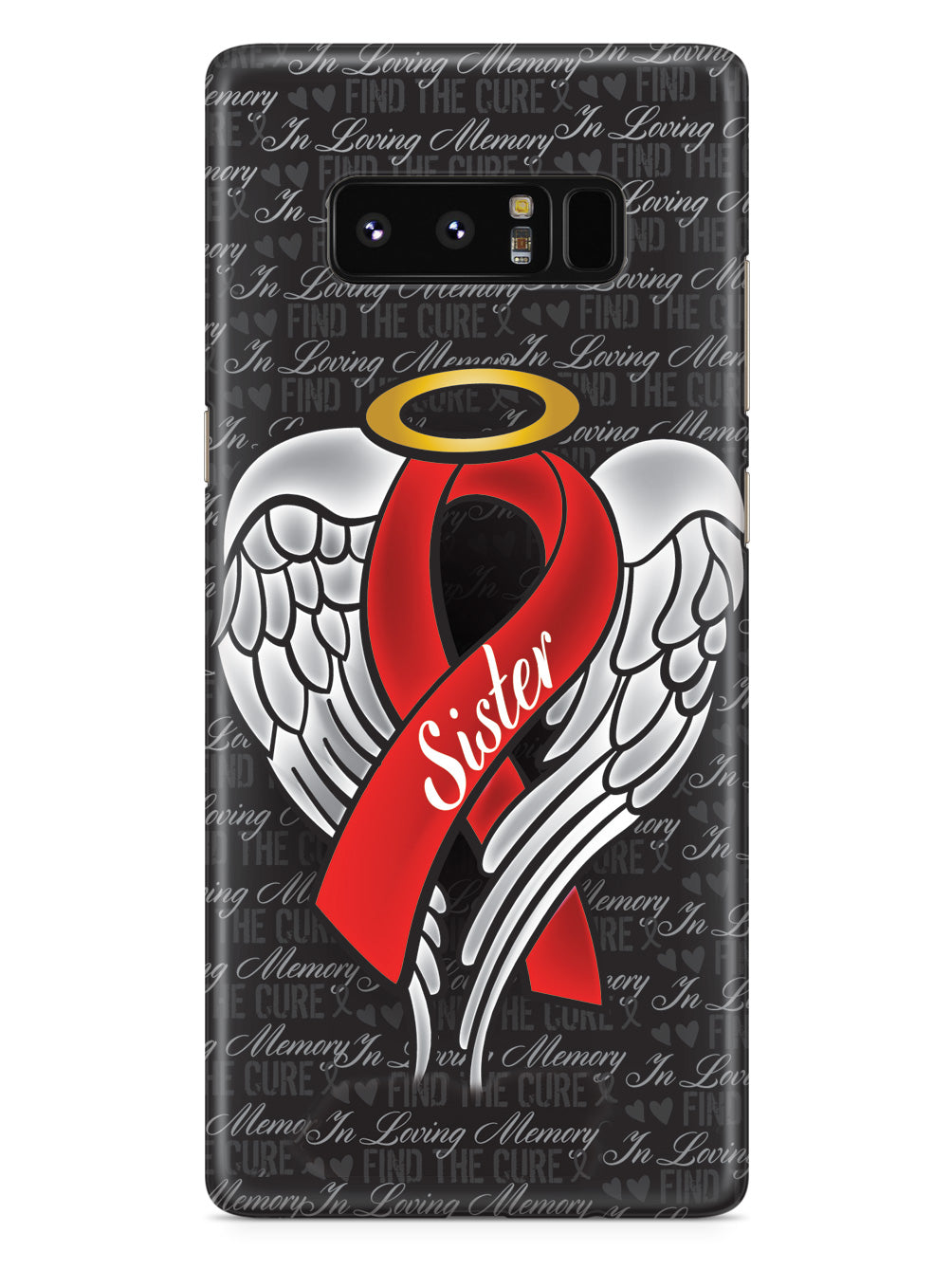 In Loving Memory of My Sister - Red Ribbon Case