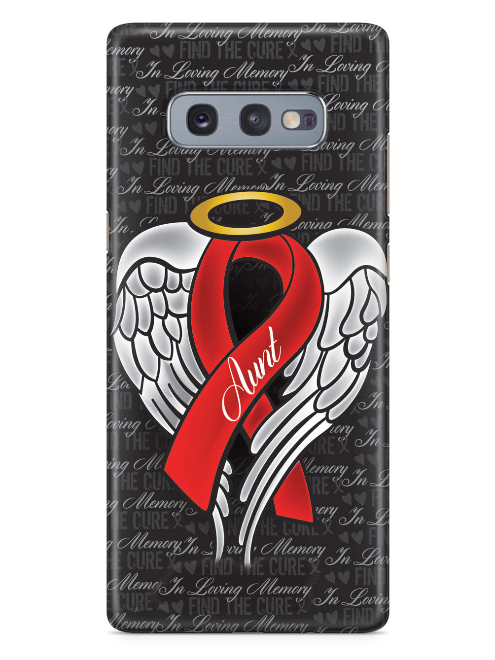 In Loving Memory of My Aunt - Red Ribbon Case