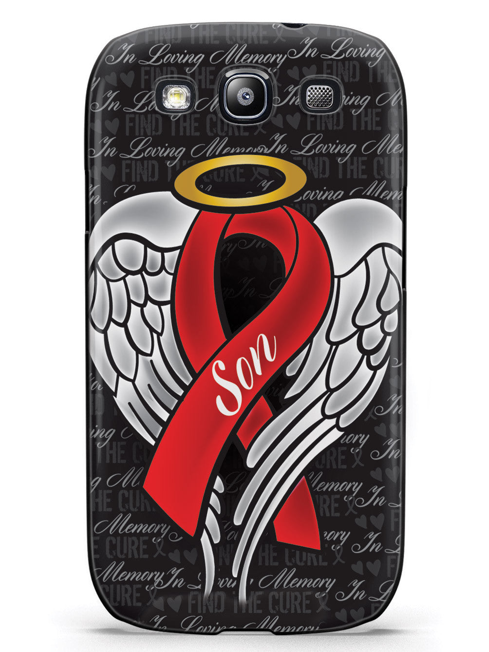 In Loving Memory of My Son - Red Ribbon Case