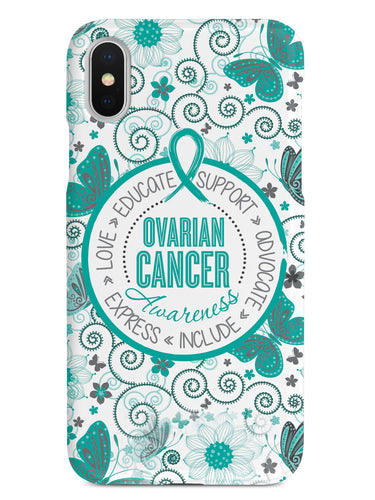 Ovarian Cancer Awareness - Butterfly Pattern Case