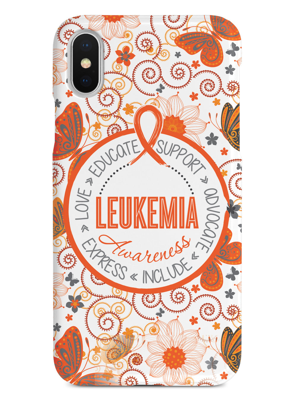 Leukemia Awareness - Butterfly Pattern Case