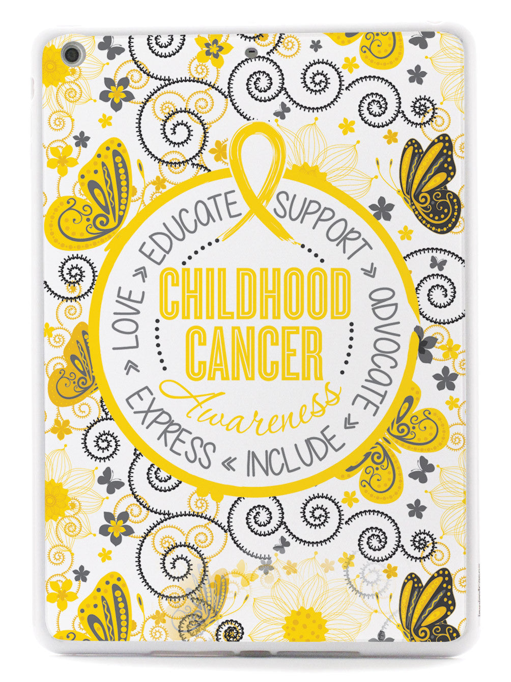 Childhood Cancer Awareness - Butterfly Pattern Case