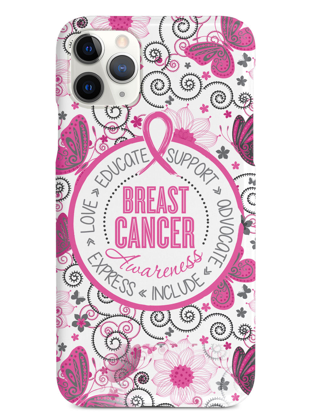 Breast Cancer Awareness - Butterfly Pattern Case