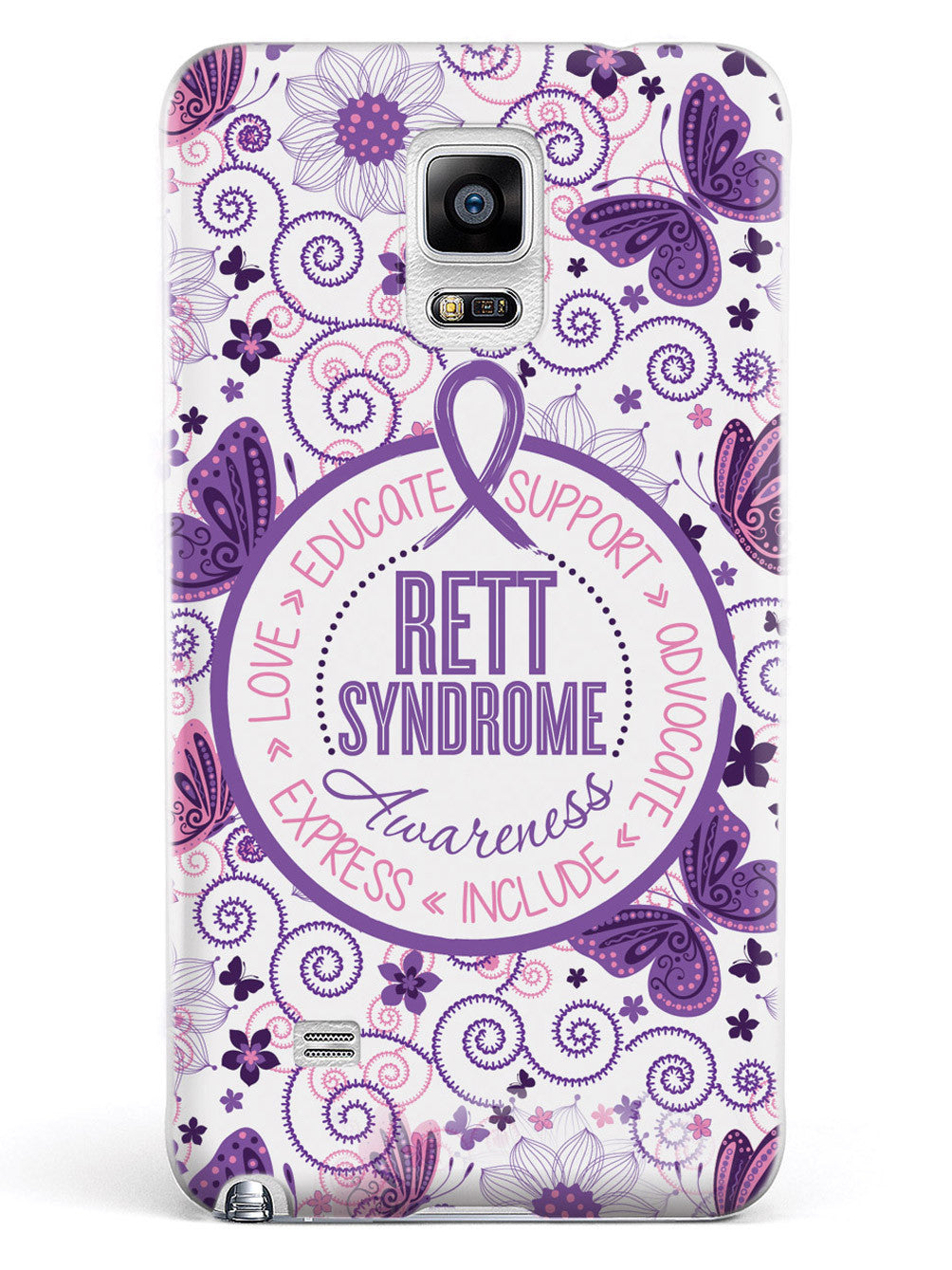 Rett Syndrome Awareness - Butterfly Pattern Case