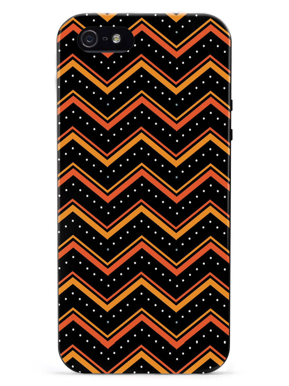 Orange and Black Chevron Pattern Case