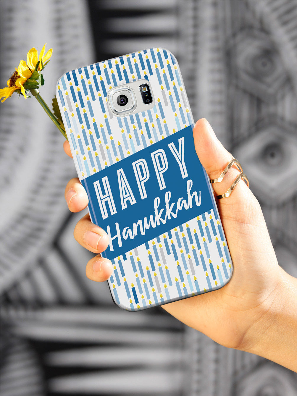 Happy Hanukkah - Candle Pattern Case