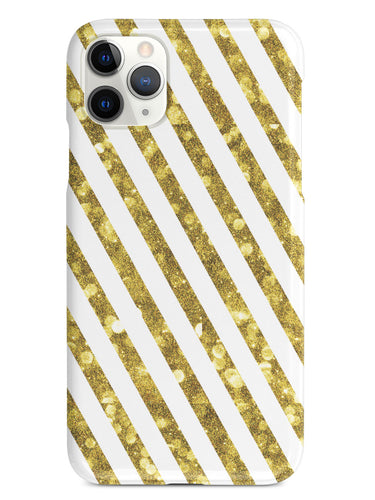 Gold Glitter Stripes - White Case
