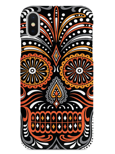 Ornate Sugar Skull - Fall Colors Case
