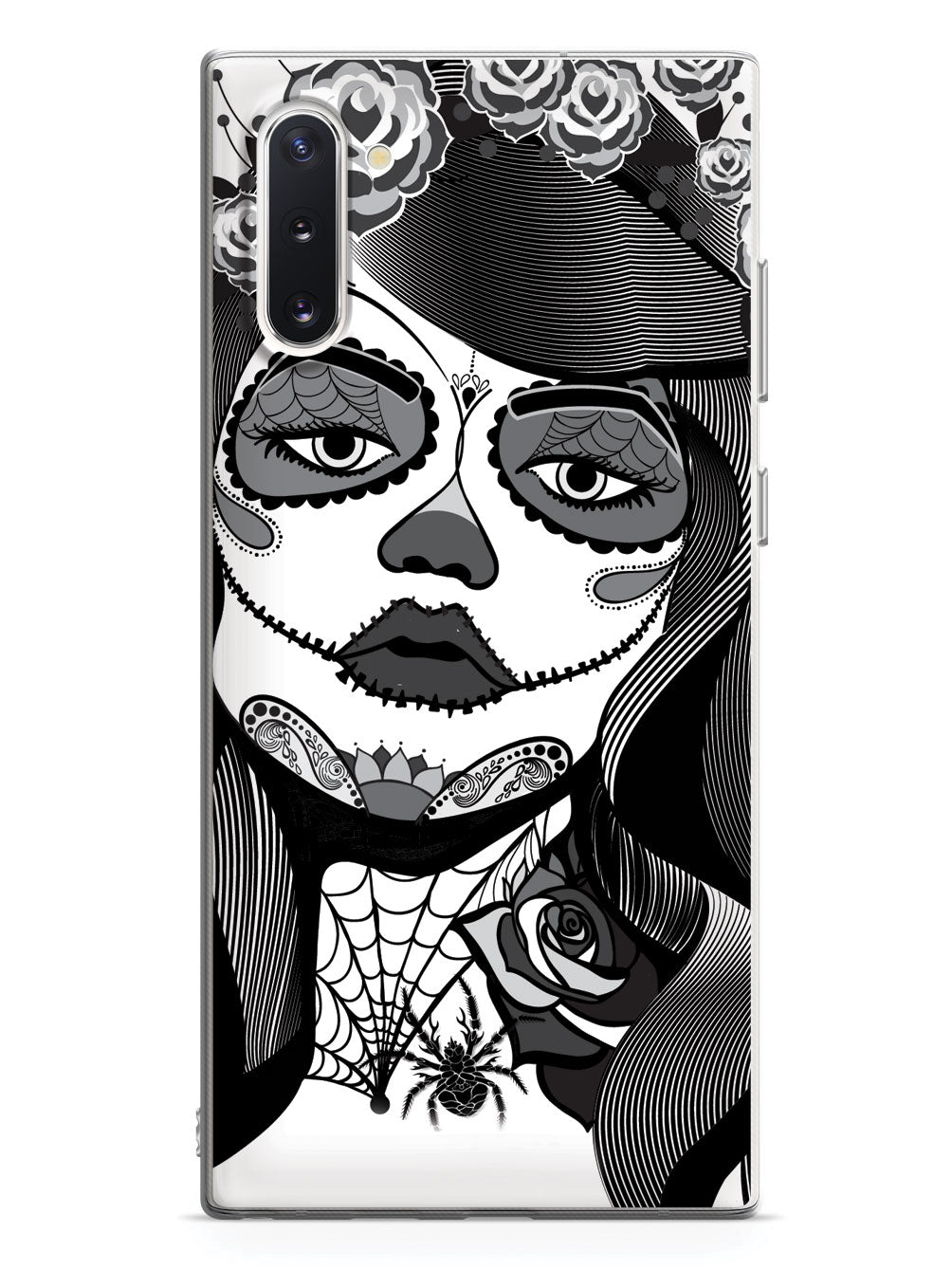 Sugar Skull Pin Up Girl - Black and White Case