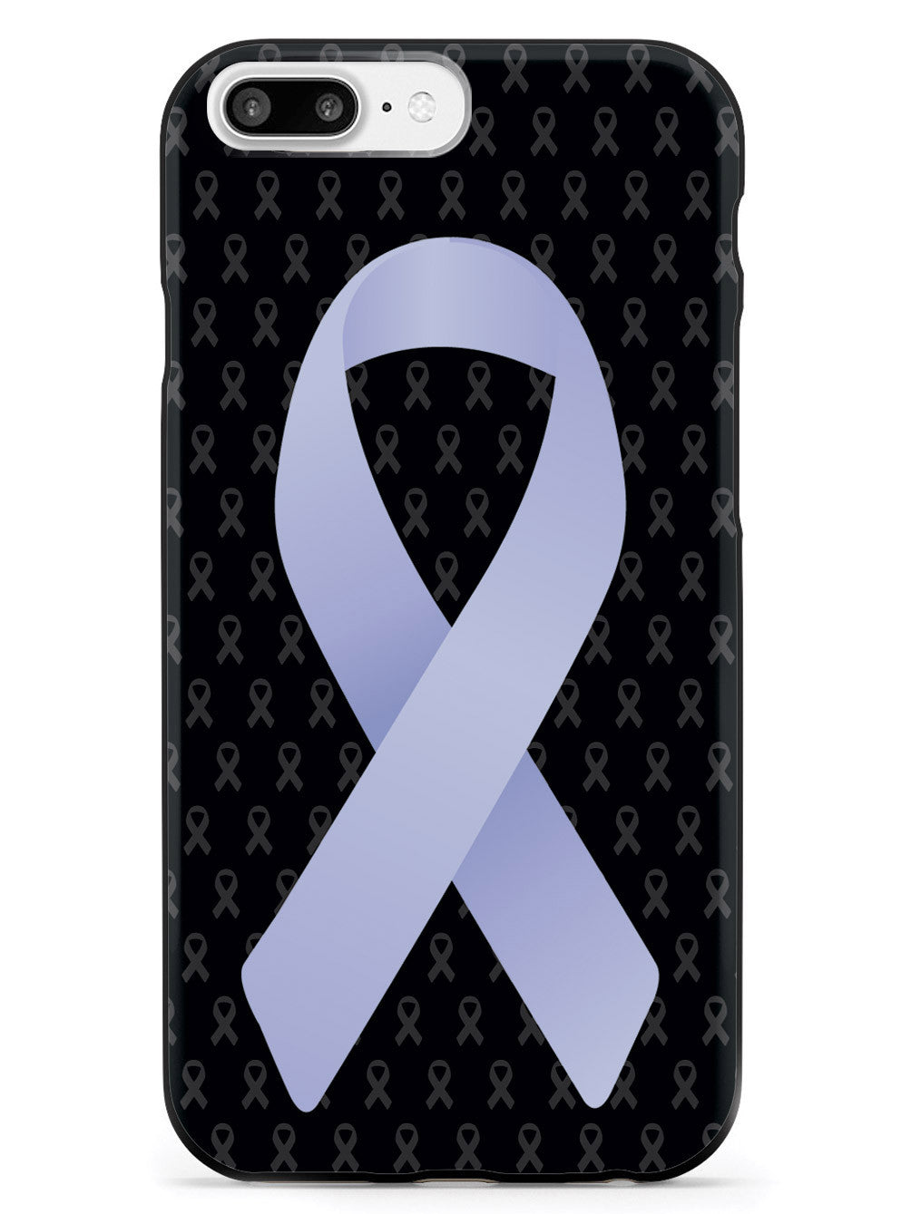 Periwinkle Awareness Ribbon - Black Case
