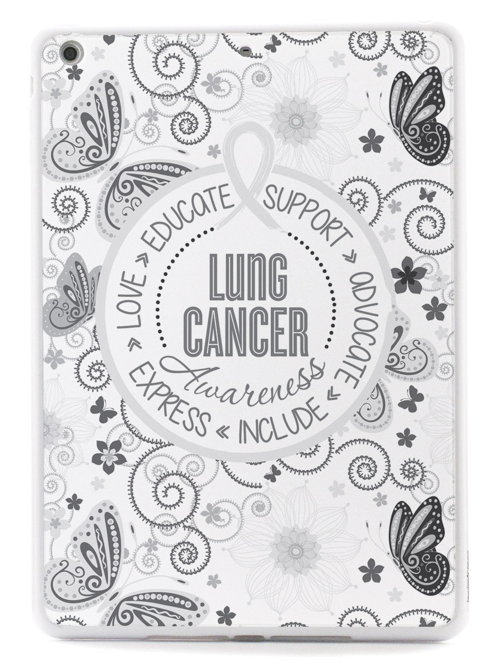 Lung Cancer - Butterfly Pattern Case