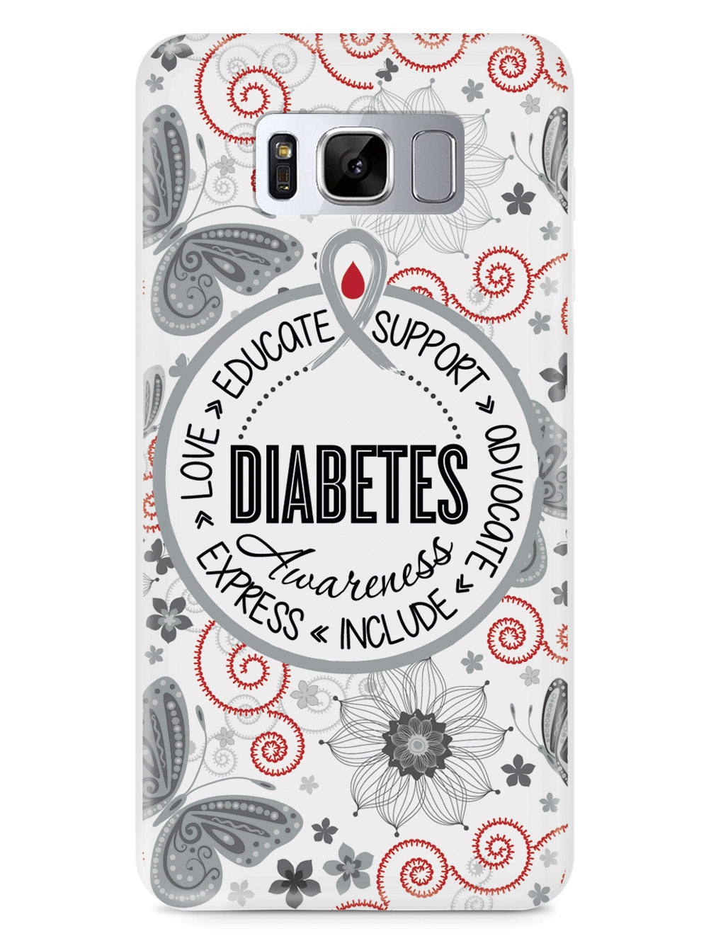 Diabetes - Butterfly Pattern Case