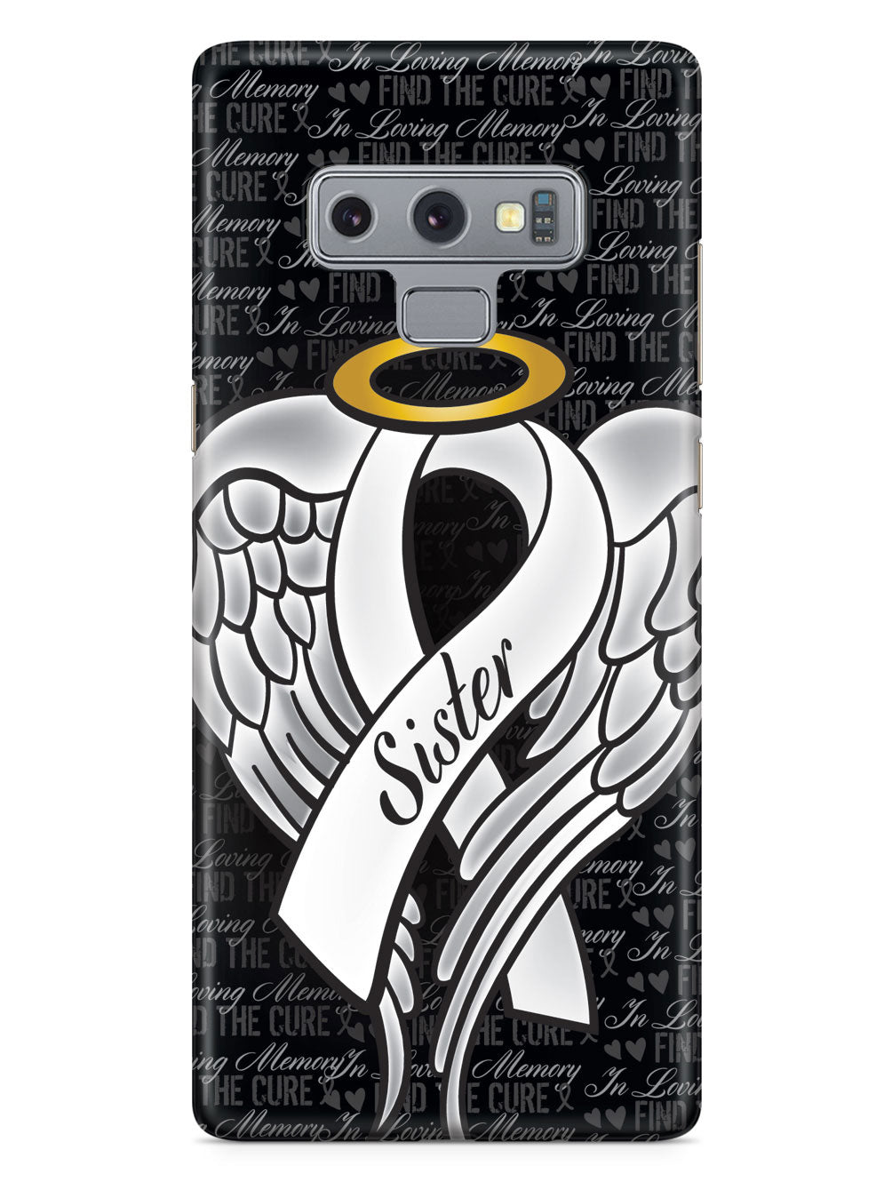 In Loving Memory of My Sister - White Ribbon Case