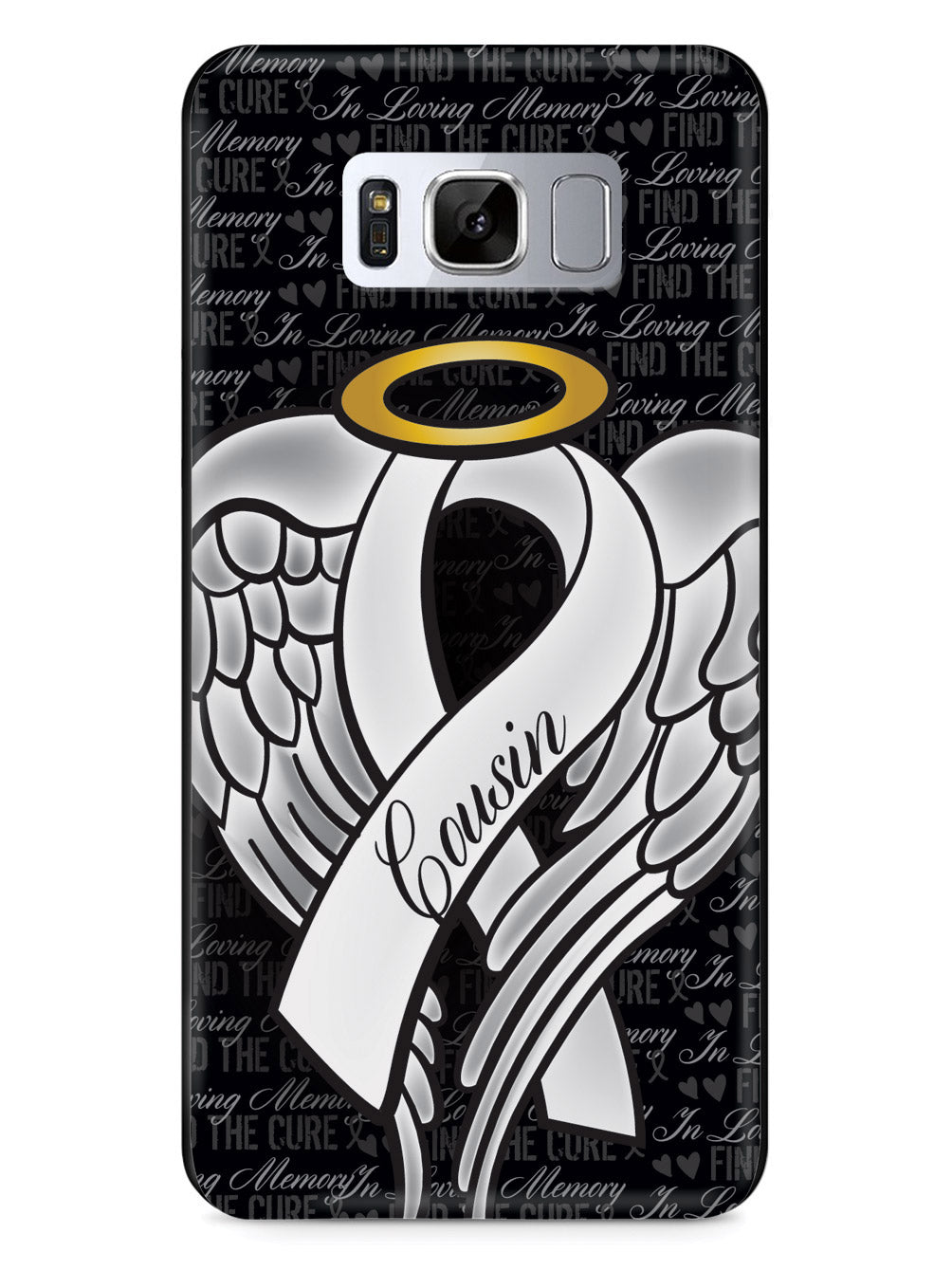 In Loving Memory of My Cousin - White Ribbon Case