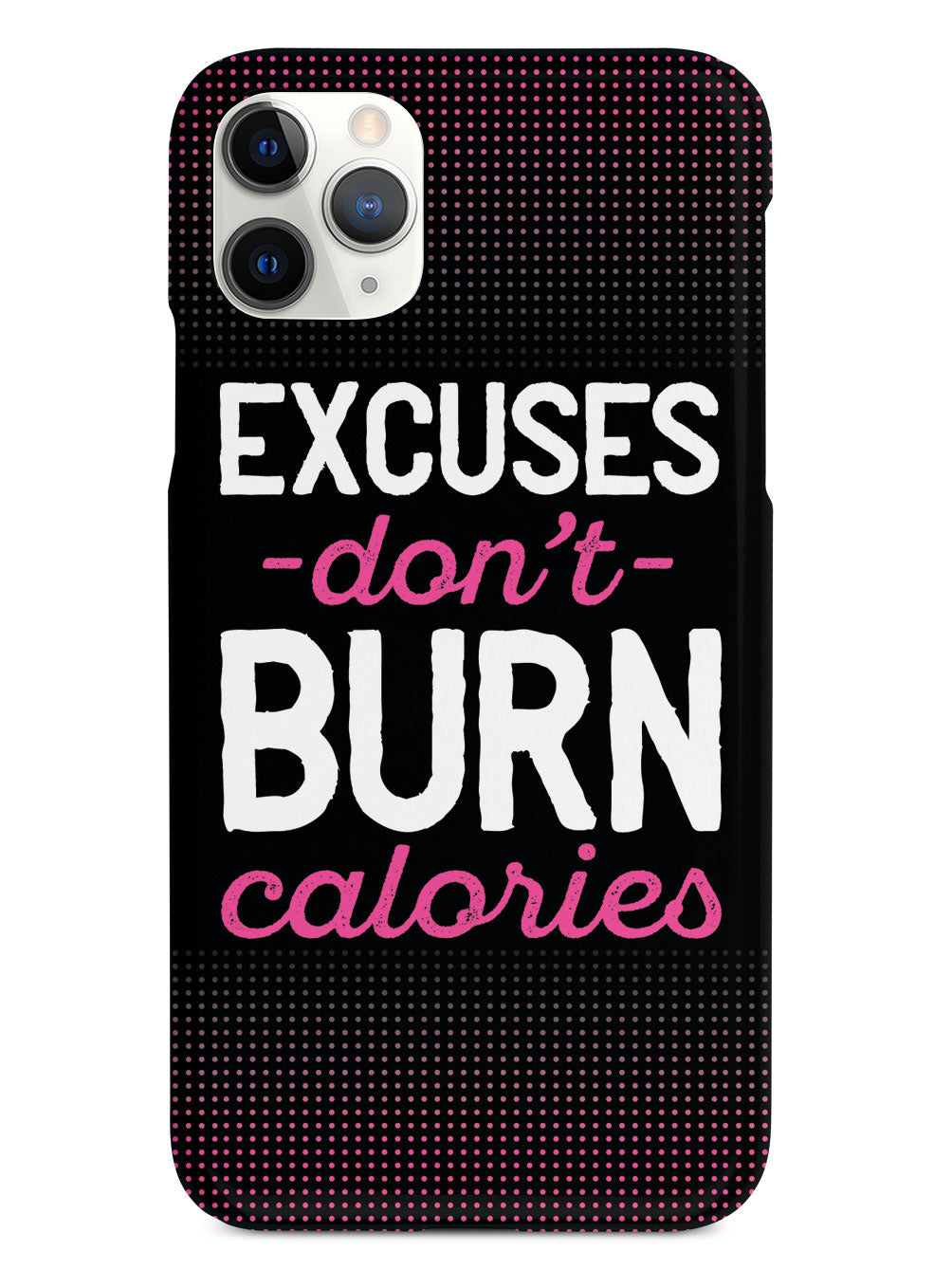Excuses Don't Burn Calories - Fitness Case