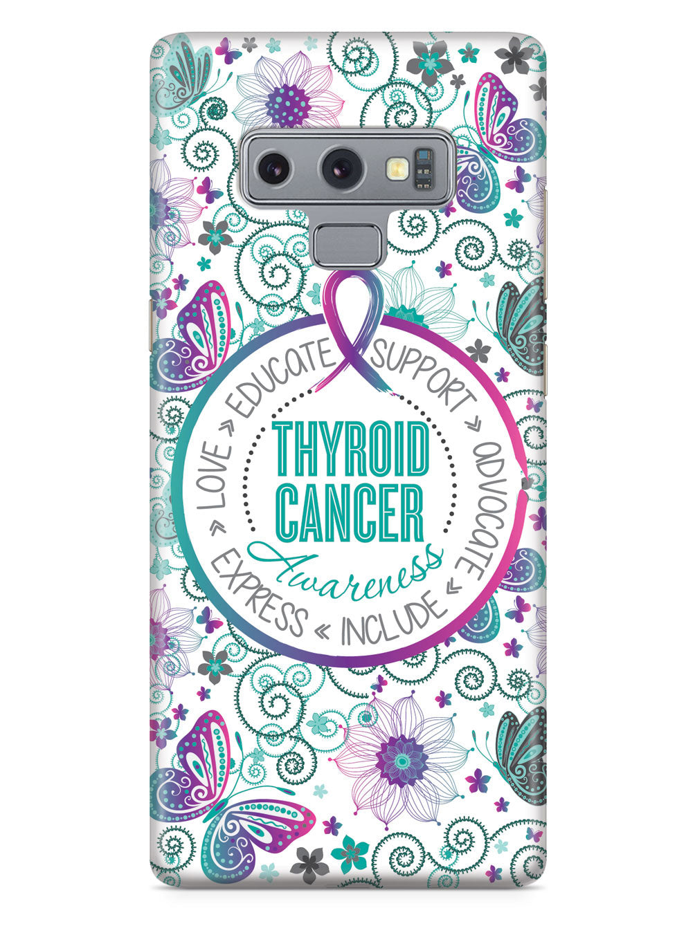 Thyroid Cancer - Butterfly Pattern Case