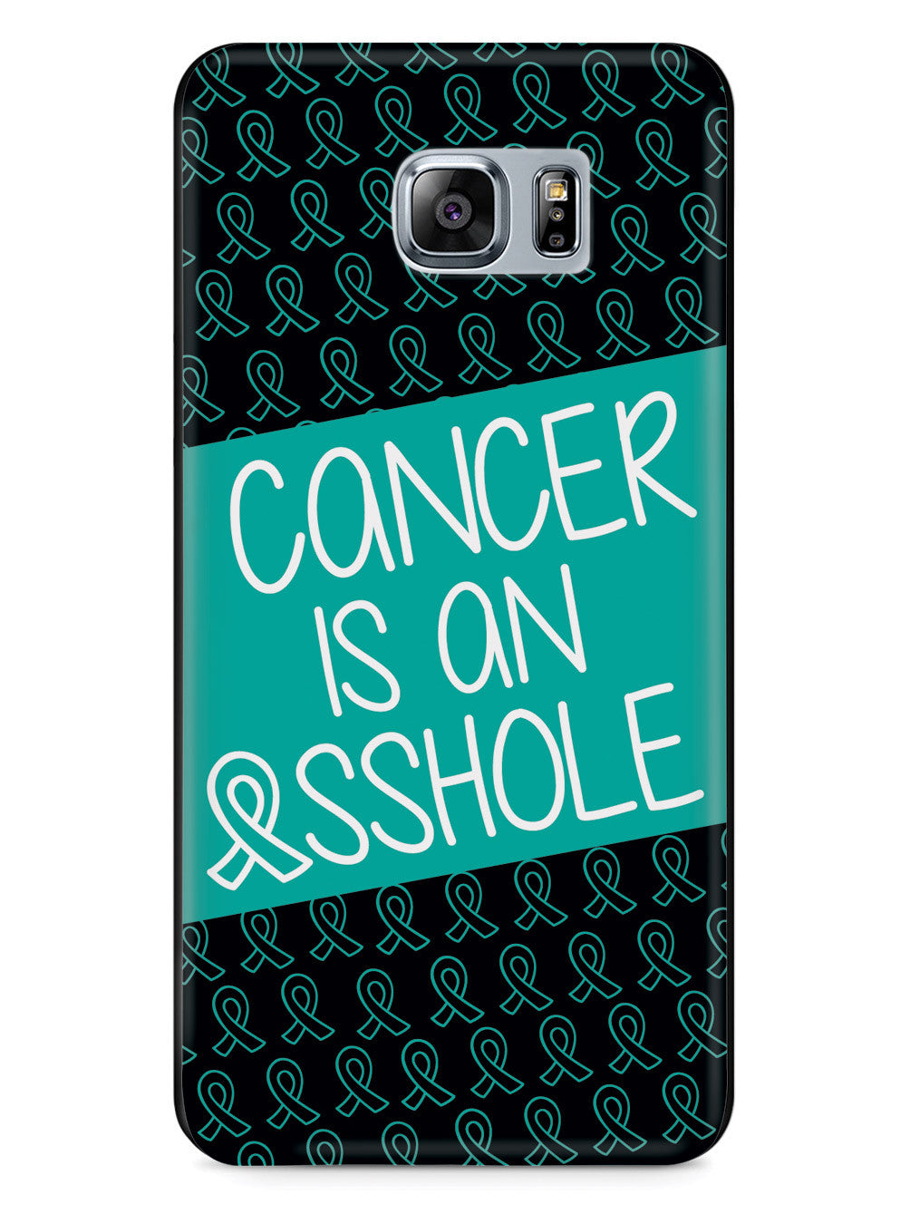 Cancer Is An Asshole - Teal Case
