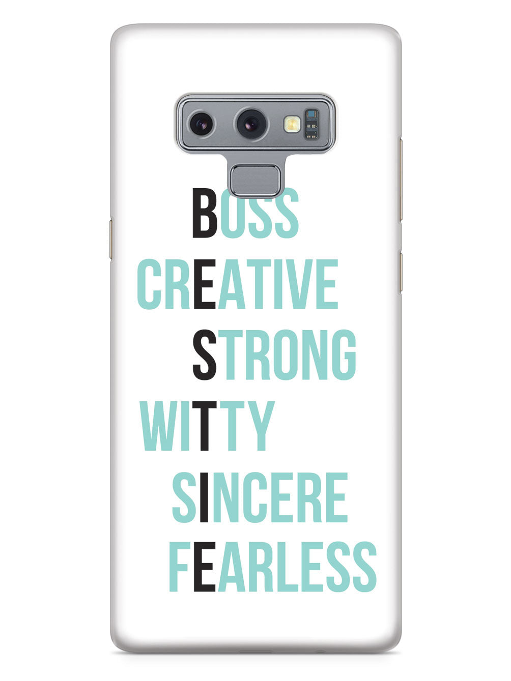 BESTIE - Teal on White Case