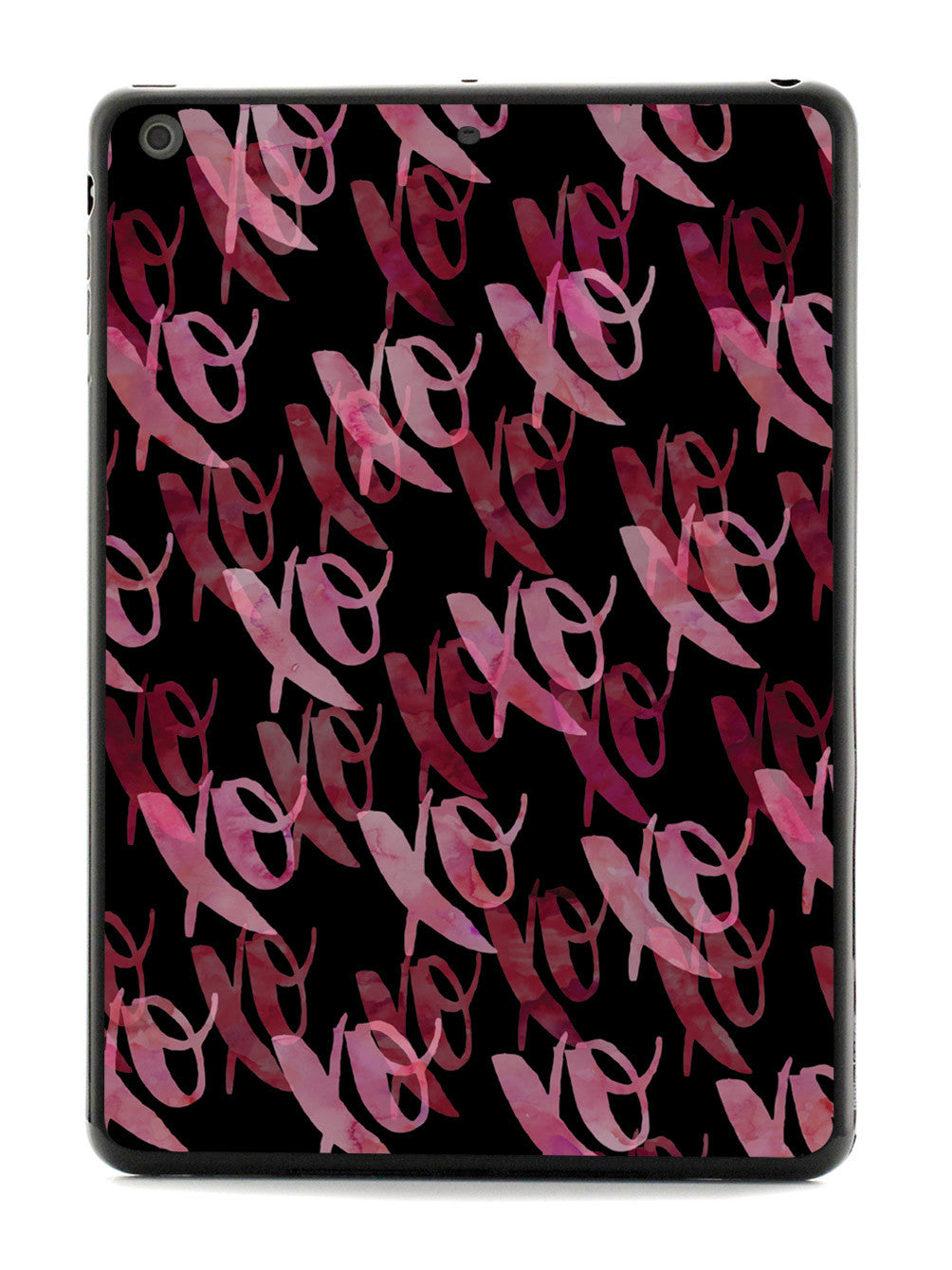 XOXO - Pink & Red Watercolor Case