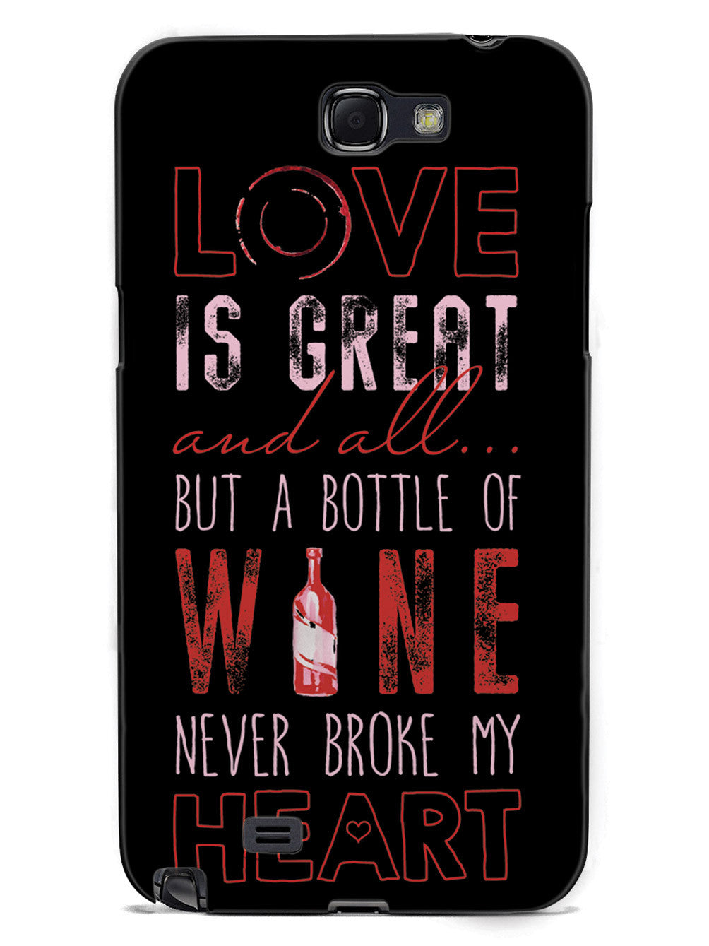 A Bottle of Wine Never Broke My Heart - Black Case