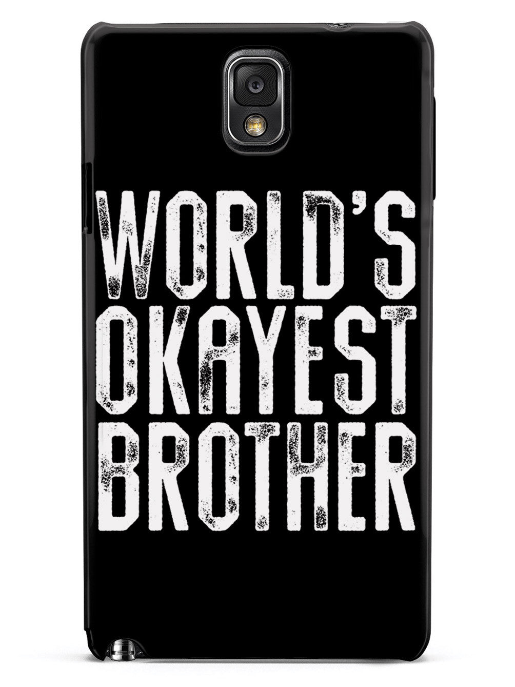 World's Okayest Brother - Black Case