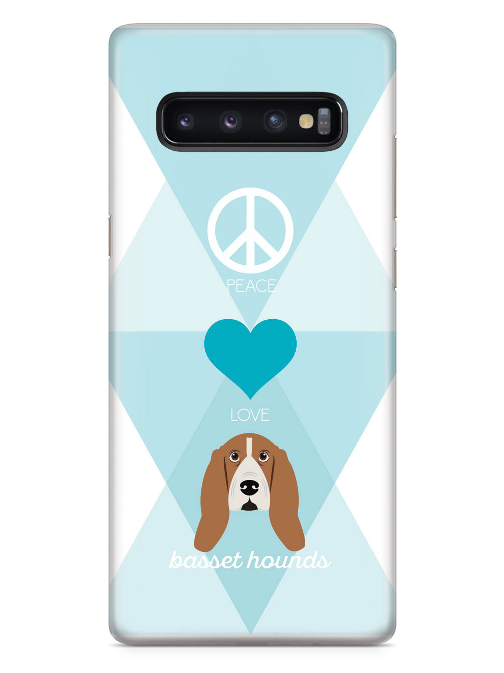 Peace, Love & Basset Hounds Case