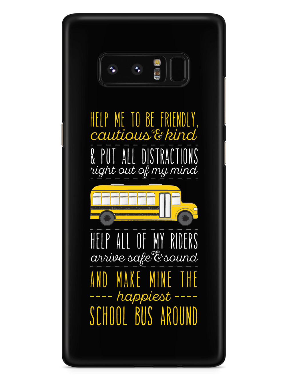 School Bus Driver's Prayer - Black Case