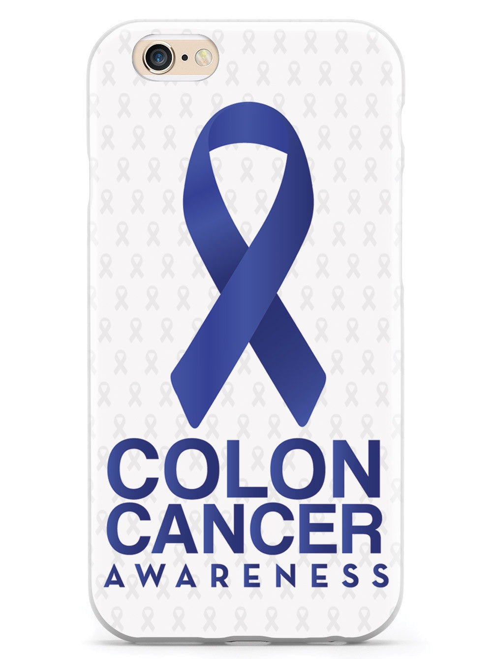Colon Cancer - Awareness Ribbon - White Case