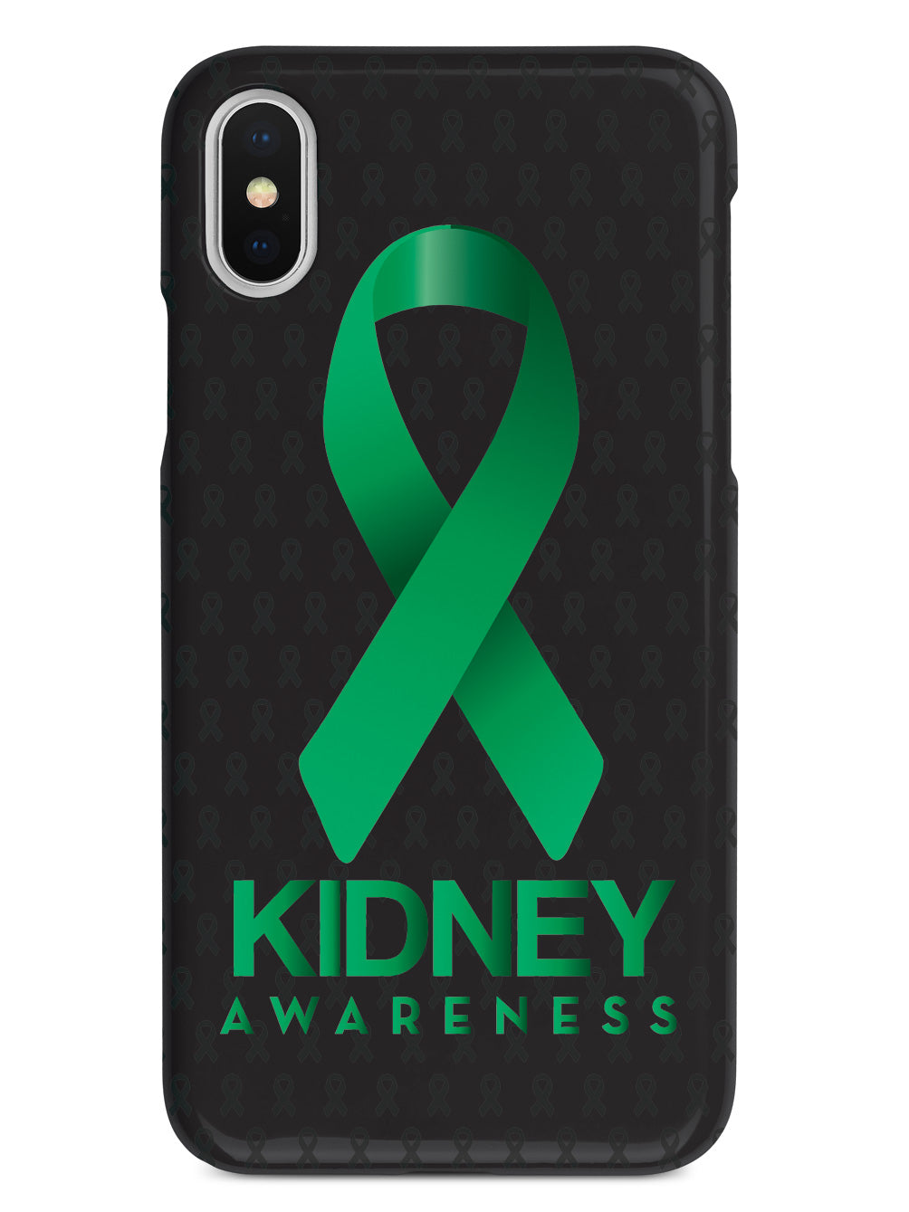 Kidney Awareness - Awareness Ribbon - Black Case