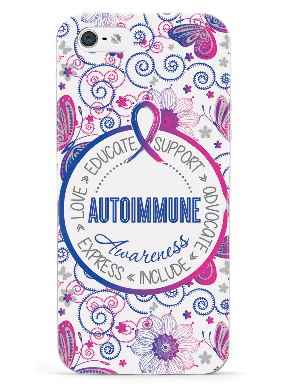Autoimmune Disease Awareness - Butterfly Pattern Case