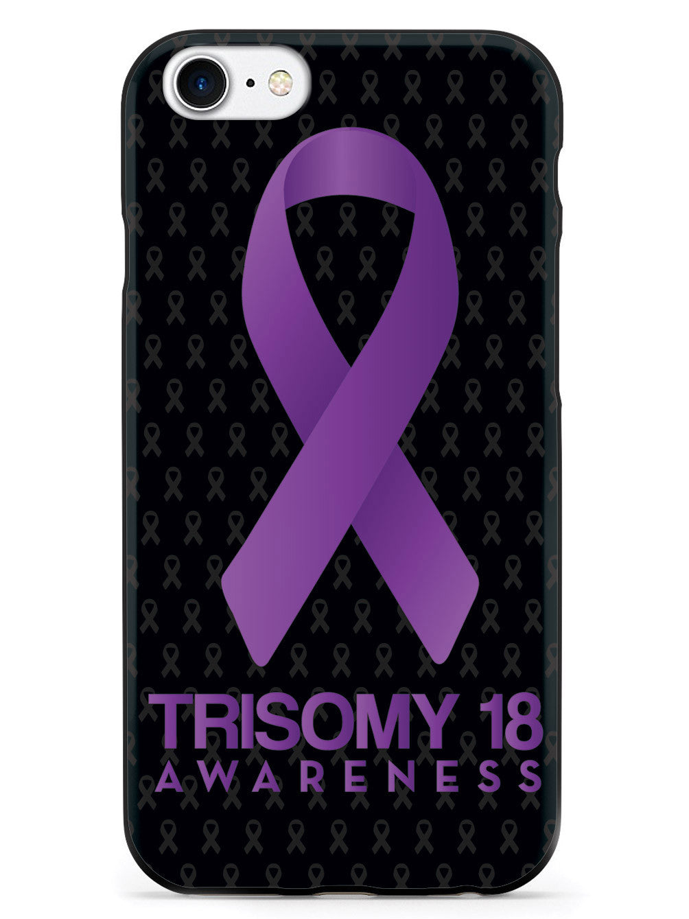Trisomy 18 - Awareness Ribbon - Black Case