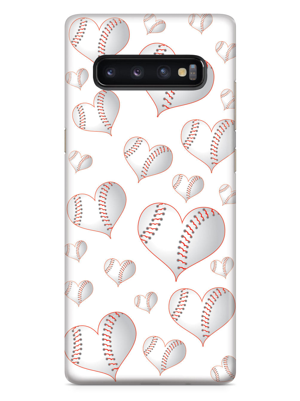 Baseball Heart Pattern - White Case