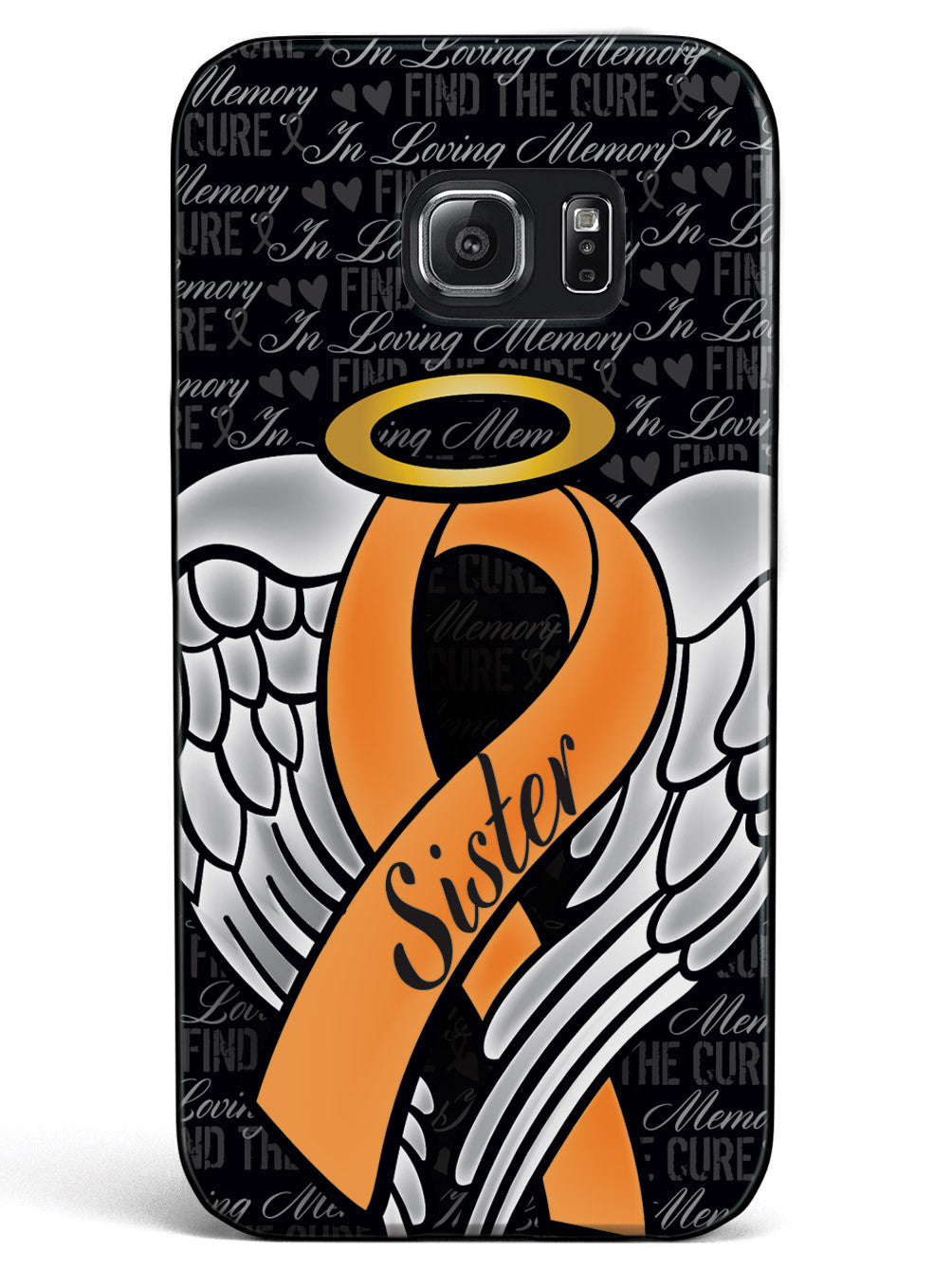 In Loving Memory of My Sister - Orange Ribbon Case