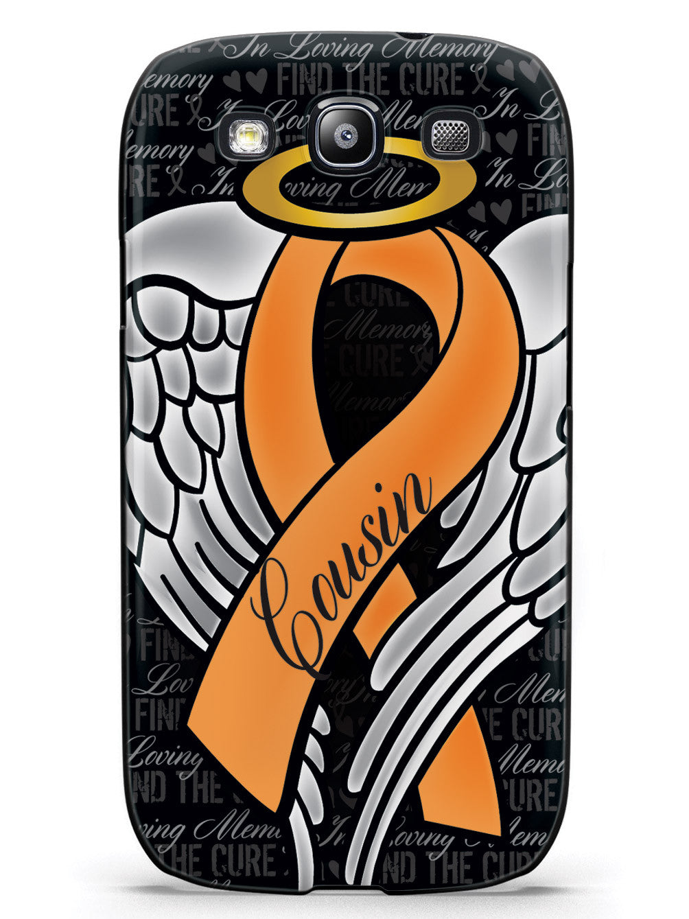 In Loving Memory of My Cousin - Orange Ribbon Case
