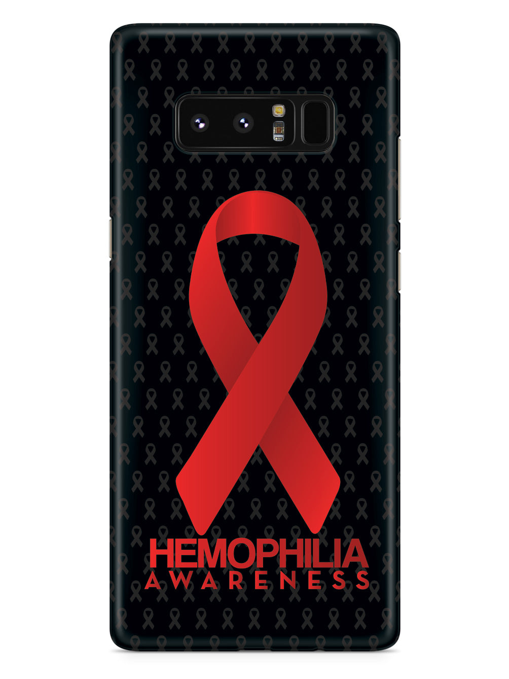 Hemophilia - Awareness Ribbon - Black Case