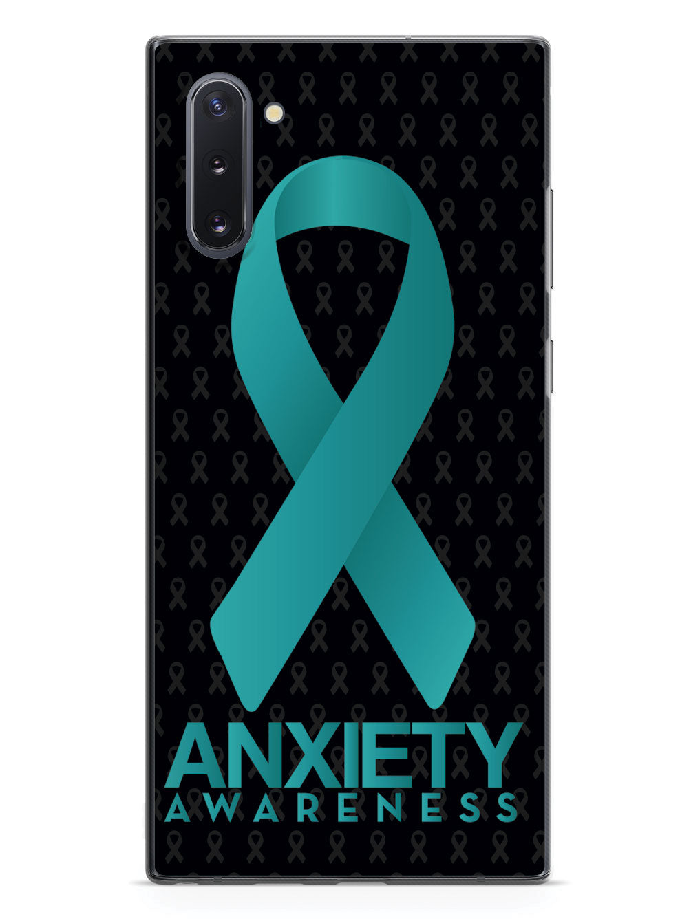Anxiety - Awareness Ribbon - Black Case