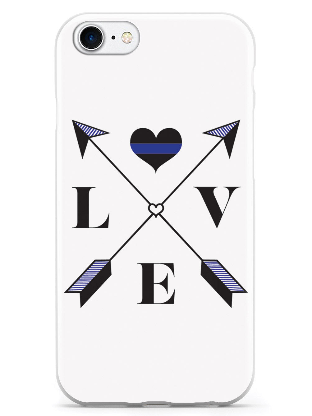 Love Arrow Cross - Thin Blue Line - Police Case